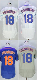 Wholesale Darryl Strawberry - 2017 Flexbase Stitched New York 18 Darryl Strawberry White Blue Grey orange Black Jerseys Home Away Road Flex base Jersey Mix Order
