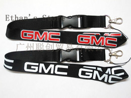 Wholesale Cell Accessories Cars - NEW free shipping hot sale Cell Phone Straps Accessories car GMC black red black white lanyards Key chain neck holders ford ID collection