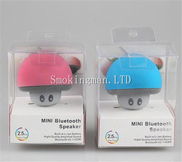 Wholesale Speaker Docking Mobile - DHL Mushroom Bluetooth Speaker Car Speakers with Sucker Mini Portable Wireless Handsfree Subwoofer for Mobile Phones Tablet