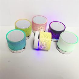 Wholesale Floor Standing Loudspeakers - Portable LED Light Bluetooth Music Speaker Mini Wireless Colorful Speakers Handsfree Stereo Loudspeakers Subwoofer support TF Free DHL