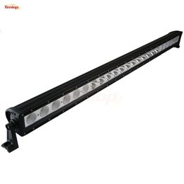 Wholesale 52 Inch Led Light Bar - 52 Inch Cree Chips Single Row 240W Combo LED Light Bar For Offroad Wrangler TJ CJ JK ATV SUV 4*4 Tractor