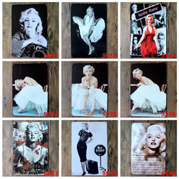 Wholesale Marilyn Monroe Art Posters - Marilyn Monroe tin sign Wall Decor Vintage Craft Art Iron Painting Tin Poster Cafe Shop Bar Club Home Decorate