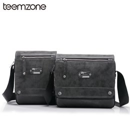 Wholesale Wholesale Leather Briefcases - Wholesale- Popular Hot Sell New Men's Genuine Leather Nylon Fashion Briefcase Portfolio Messenger Shoulder Tote Bag Matching Bag T0798