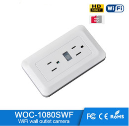 Wholesale Spy Camera Wall Socket - WIFI IP 1080P Camera Spy wifi Wall Plug Socket Hidden Camera Video Recorder hidden cctv camera