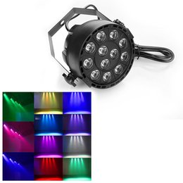 Wholesale Usa Models - 12W RGBW Stage Lighting With DMX Model 12 Led Par Lights Voice Activated Disco Christmas Light For DJ Stage Party