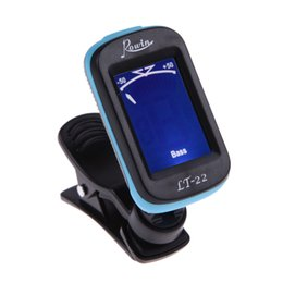 Wholesale Portable Bass Guitar - New Portable Guitar Tuner Screen Digital Tuner Clip On Design for Chromatic Guitar Bass Ukulele Violin