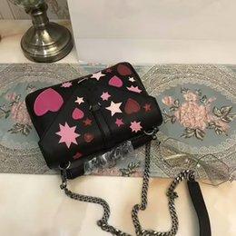 Wholesale Envelope Handbags Newest - Brand Newest messenger bags Heart Envelope Bag Y Women Handbag Bag Silver Chain Bag Shoulder Bags Lady Moon Star Handbags Bags SN#Y17