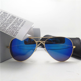 Wholesale Fashion Drivers - Classic Men Sunglasses For Women Brand Design High Quality 58mm Sun Glasses UV400 Shade Sport Unisex Eyewear Driver With All Cases