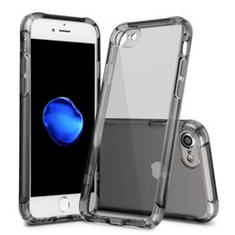 Wholesale Transparent Shockproof Iphone Bumper - For iPhone 7 bumper case best quality silicone with four corners shockproof drop protection protective case cover for iPhone 6 6S 7 Plus