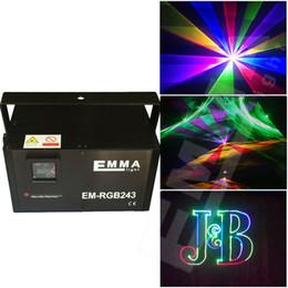 Wholesale Scanner Rgb - 2W RGB Animation Laser Light galvo scanner fashion disco laser show equipment