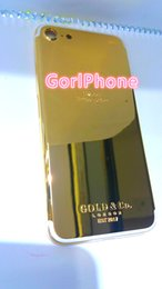 Canada Mode chaude élégante or 24 carats véritable pour iphone 7 or logement panneau arrière 24K 24CT 24KT miroir OR boîtier en design doré Offre