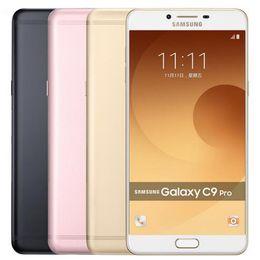 Teléfonos celulares sim libre online-Reacondicionado Original Samsung Galaxy C9 Pro C9000 Dual SIM 6.0 pulgadas Octa Core 6GB RAM 64GB ROM 16MP 4G LTE Teléfono celular Android Gratis DHL 1pcs