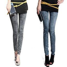 Wholesale Work Jeans Wholesale - Wholesale- Sexy Stretchy Women's Skinny Denim Warm work Career Jeans Pants nz17