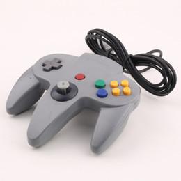 Wholesale N64 Joypad - Wholesale Long Handle Game Wired Controller Joypad Joystick Gaming For Nintendo N64 System