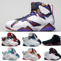 5bdd040ac Retro 7 donne scarpe da basket GS olimpica francese blu Hare Niente ma Net  Raptor Multi colore bianco nero viola sportivo Sneakers in vendita