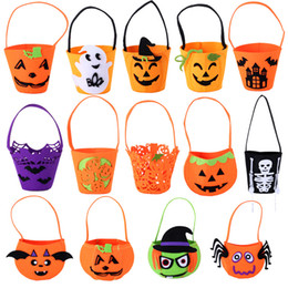 Wholesale Wholesale Toys For Party Bags - Funny pumpkin bag handbag basket for candy Trick Toy for April fool's day halloween party favor decoration IC542