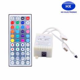 Wholesale Dimmer Bulb Remote - Hot RGB 6A 24 keys 44 Keys IR Remote Controller RGB LED Dimmer 12V 2port For SMD5050 3528 LED-Strip Bulb Light Mini-RGB Controller