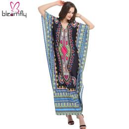 Wholesale Traditional Ethnic Dress - dashiki dress african women maxi long Summer Ethnic Dashiki Dress Robe Traditional African Clothing Long Maxi Tunic Dress