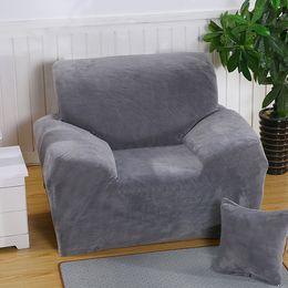 Wholesale Room Sofa Set - Winter Thick Full Wrap Elastic Sofa Cover Slipcover 1 Piece Universal Slipcover With Elastic 1 2 3 4-Seat Fleece Sofa Sets Living Room