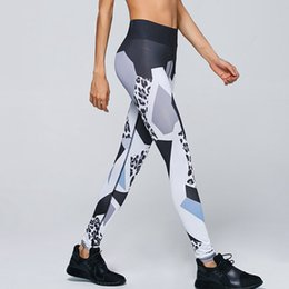 Wholesale Printed Elastic Jeggings - 2017 New women's sporting leggings leopard print Sexy slim Elastic Fitness Leging Workout Pants Leggings Jeggings Clothing