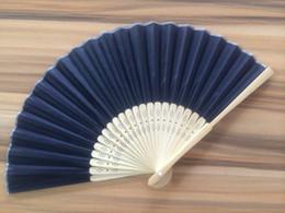 Canada bambou noir fans de soie à la main mariage mariage pliage fans soie pliage fans à la main pour mariage en gros 002 Offre