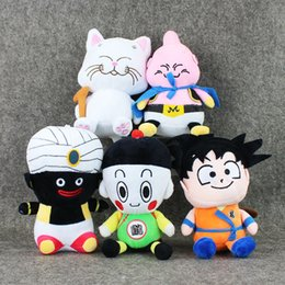 Wholesale Dragon Ball Z Plush - Wholesale- 17-19cm 5pcs set Dragon Ball Z Plush Toys Son Goku Mr. Popo Karin Buu Chiaotzu Soft Stuffed Dolls With Sucker Free shipping