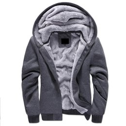 Wholesale Winter Hoodies For Men Wholesale - 2017 Hotest 5 Colors Brand Thick Wool Warm Winter Coats Men's Hoodies And Sweatshirts Outwear Polo Hooded Sportswear Tracksuits For Mens