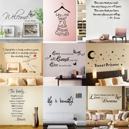 Wholesale Mix Quote - Hot sale Mixed styles Quote Wall Decals Removable Vinyl Wall Art Stickers Home Décor for Home or Office