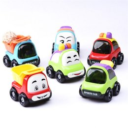 Wholesale Inertia Toy Car - IQANGLE Children Inertia Cartoon Simulation Car Baby Toys Food Grade Plastic 0-3 Years Puzzle Early Childhood Small Toys