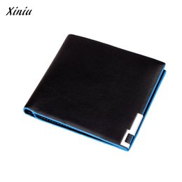 Wholesale Wholesalers For Small Businesses - Wholesale- Xiniu Men Wallet Blue Side Stylish Bifold Business Leather Wallet Card Holder Small Purse for Men Sacoche Homme #1212