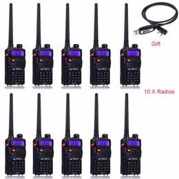 Wholesale Handy Talkie Vhf - Wholesale- 10pcs Retevis RT 5R Walkie Talkie 128CH UHF+VHF HF Transceiver Portable Radio Set Handy cb Radio Comunicador A7105A