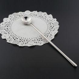 Wholesale Long Iced Tea Spoons - Long Handle Tea Spoons Stainless Steel Ice Cream Spoon Set Mixing Spoon For Ice Cream  Tea Coffee Dessert  Milkshake Flatware Set