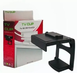 Wholesale Xbox One Kinect Tv Mount - Xbox One Kinect 2.0 HDTV TV Clip Mount Bracket Holder Stand Retail packaging Free DHL ship