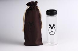 Wholesale Wholesale Clear Plastic Water Bottles - My Bottle 500 ml With Gift Bag Plastic Water Bottle Sport Lemon Juice Circle Clear Bottle