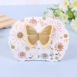 Wholesale Gift Boxes Prices - Lowest Price--50Pcs Lot Elegant Romantic Butterfly Candy Box Gift Boxes Party Event Supplies Decoration Laser Cut Wedding Paper Favor Boxes