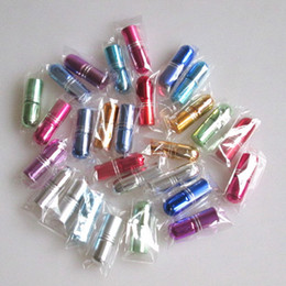 Wholesale Wholesale Tiny Glass Bottle Vials - 3ml Glass Roll On Bottle Mini Essential Oil Bottle Refillable Tiny Perfume Glass Vials 7 Colors Free Shipping F201744