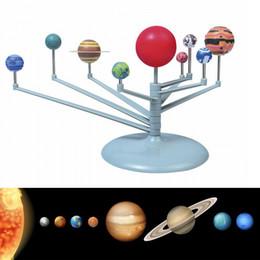 Crianças educacionais diy nove planetas no sistema solar planetário pintura brinquedos de ensino de ciências de