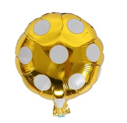 large ball party Promo Codes - 10 Inch Dot Aluminum Foil Balloons Large Helium Balloon Inflatable Gift Childrens Birthday Party Decoration Ball Balloon Toys