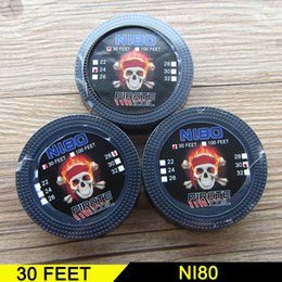 Wholesale 22 Guage Wire - Nikrothal Nichrome 80 Ni80 Heating Wires 32 30 28 26 24 22 guage heating resistance wire 30 Feet E-cigarette Accessories Chiron wires