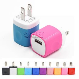 Wholesale Wall charger Travel Adapter For Iphone S Plus V A Colorful Home Plug USB Charger For Samsung S6 S6 EDGE Note USA Version EU Version DHL