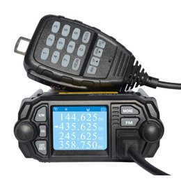 Wholesale Mini Uhf Radio - Wholesale- Zastone Dual Band VHF 136-174MHz UHF 400-480MHz Car Truck Mobile Radio Transceiver ZT-MP380 Mini Car Mobile Radio Two Way Radio