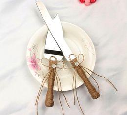 Wholesale Tools Cutting Cakes - 2017 New 2pcs set cake tools wedding cake knife and server set,stainless steel fancy kitchen knife set cutting knife cake shovel