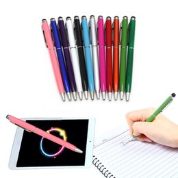 Wholesale Ball Point Stylus - Touch Screen Stylus Pen Muti-fuction Capacitive and Ball Point Pen 2-in-1 for Iphone Sumsang Ipad HTC etc all Smart CellPhone&Tablet STY004