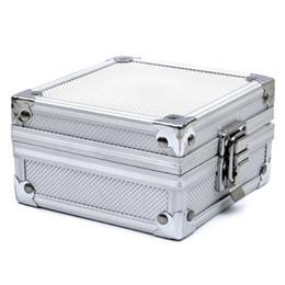 Wholesale Tattoo Machines Cases - Wholesale- New Arrival Professional Aluminum Tattoo Machine Gun Grip Tube Tip Box Case Kit Supply Tattoo Accesories