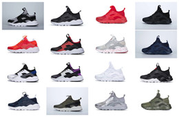 Wholesale Spring Nude - human race Ultra Run IV Classical Running Shoes Black White Oreo Grey Huaraches Shoes Mens Womens Running Shoes Sneakers