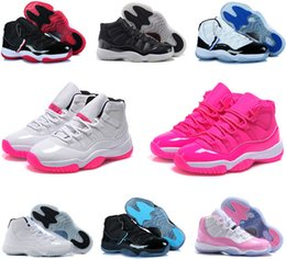 Wholesale Cool Shoes For Women - Cheap air retro 11 Concords 72-10 Legend Blue Cool Grey women basketball shoes new Space Jam Bred Gamma Blue sports sneakers for sale