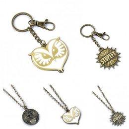 Wholesale Key Ring Findings - FB Fantastic Beasts and Where to Find Them STUPEFY MAGICAL CONGRESS Necklaces Keychain Key Ring Women Men Chritsmas Gift 161738
