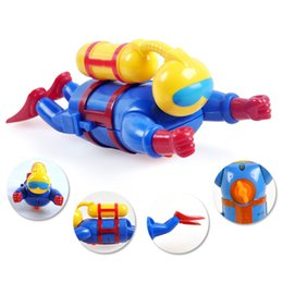 Wholesale Wholesale Elephant Plastic Toys - 120pcs lot Wind Up Water Diver Childrens Bath Time Fun Scuba Wind-Up Water Diver Swimming Bath Novelty Toddler Toys Gifts for Kids