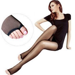 Wholesale Sexy Toes Tights - Wholesale-Women Ladies Sexy Open Toe Sheer Ultra-Thin Tights Pantyhose Stockings