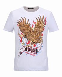Wholesale Tee Shirt Red Collar - 2017 Summer New Arrived Men's Round Collar T-Shirt Short Sleeve Cotton Jersery DSQ2 Tee Shirt Men's Print Casual D2 Tops Shirts 18981~18991